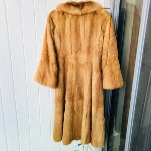 Fur Fox coat size Small